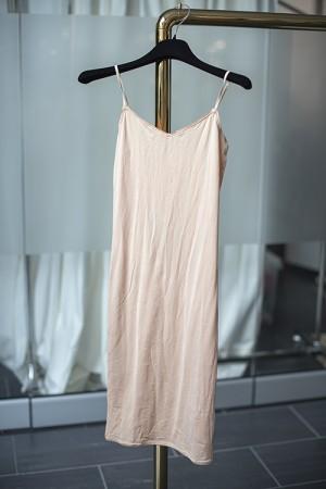 40´s Shape Slip Dress Nude