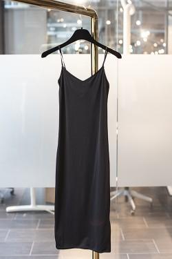 40´s Shape Slip Dress Black