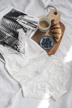 40's Lace Bra Vintage White
