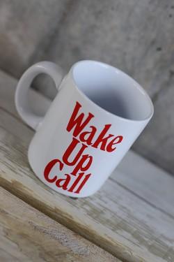 Hot Stuff Ceramic Mug Wake Up Call