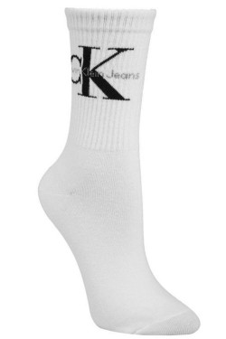 Bowery Logo Crew Socks White