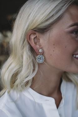 Chloe Earrings Gold Crystal