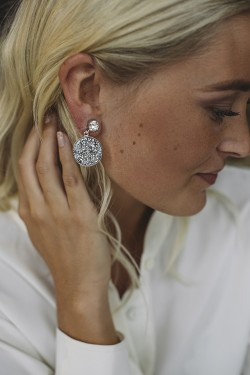 Chloe Earrings Rhodium Crystal