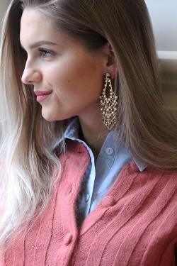 Zoe Earrings Hermatite
