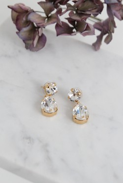 Classic Drop Earrings Crystal