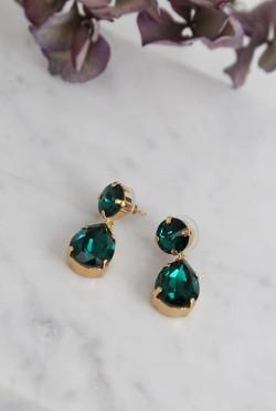 Classic Drop Earrings Emerald