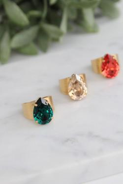 Classic Drop Ring Emerald
