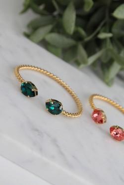 Mini Drop Bracelet Emerald