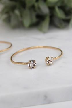 Classic Stud Petite Bracelet Crystal