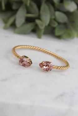 Mini Drop Bracelet Vintage Rose