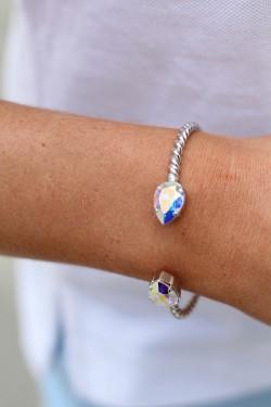 Mini Drop Bracelet Rhodium