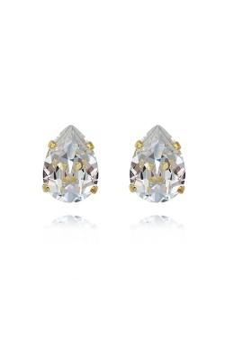 Mini Drop Studs Crystal
