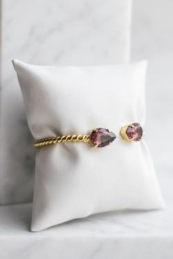 Mini Drop Bracelet Burgundy