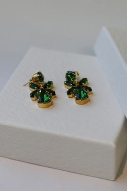 Mini Dione Earrings Emerald