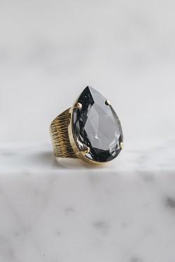 Perfect Drop Ring Silver Night