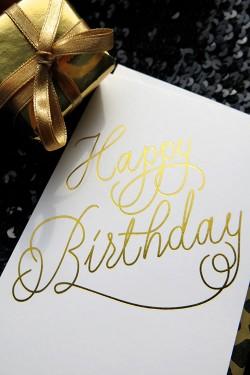 Happy Birthday White A6