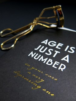 Age Is Just A Number A6 Black
