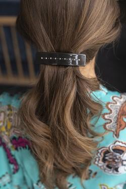Crystal Hair Clip Large Chocolate Brown