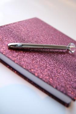 Glitter Notebook Wine