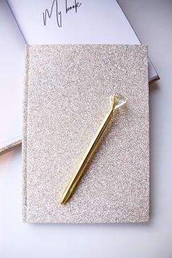 Glitter Notebook Silver