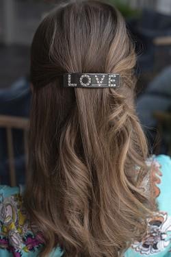 Love Hair Clip Large Chocolate Brown