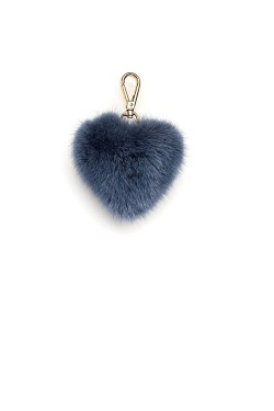 Mink Heart Charm Blue