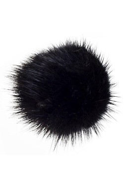 Shoe Pom Pom Large Black