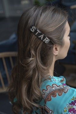 Star Hair Clip Large Chocolate Brown