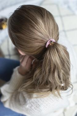 Velvet Hair Tie Star Blush Rose