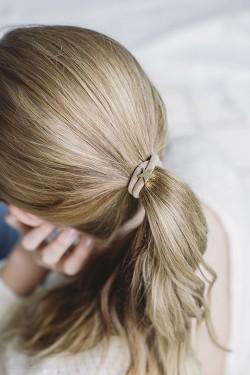 Velvet Hair Tie Star Sand