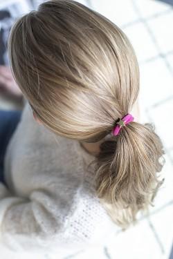 Velvet Hair Tie Star Pink