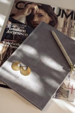 Velvet Notebook A5 Grey