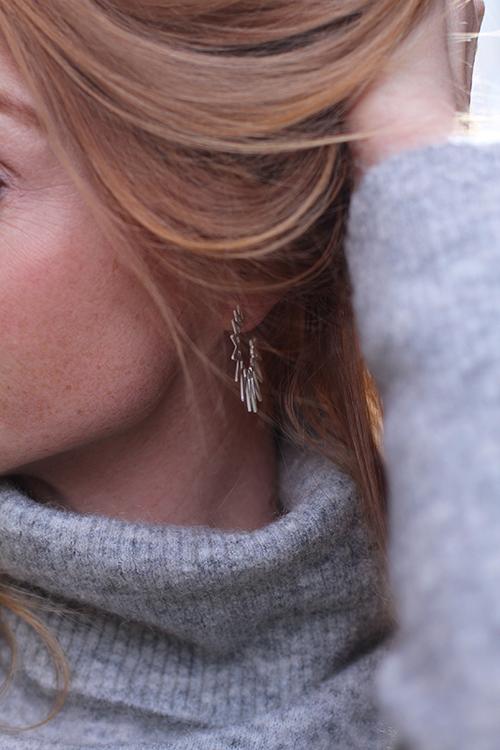 Big Sun Earrings Silver