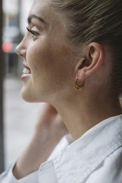 Sunrays Earrings Gold