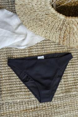 Textured Bikini Bottom Black