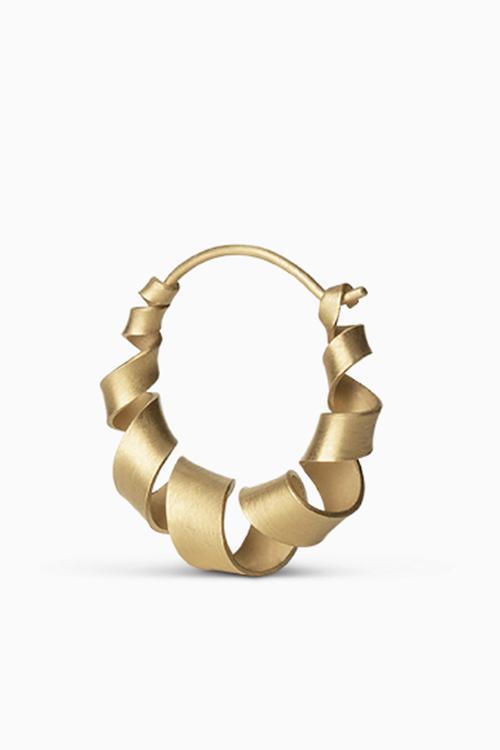 Jane Konig Small Curly Hoop Gold øredobber