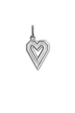 Letter Pendant Heart Silver