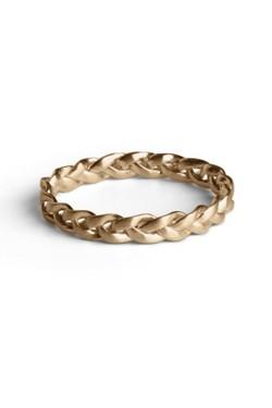 Medium Braided Ring Gold