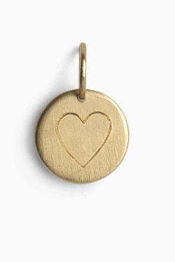 Love Tag Heart Gold