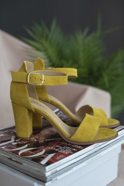 Silke Sandals Yellow Suede