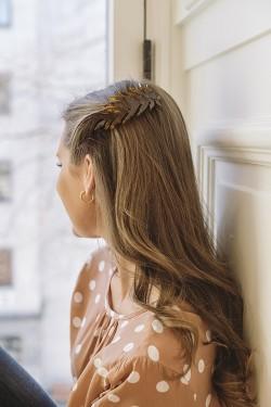 Leafy Hair Clip Brun