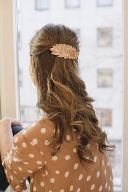 Vifte Barette Hair Clip Oransje