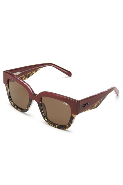 QUAY Don`t Stop Redtort/Brown solbriller