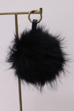 Raccoon Pom Pom Stor Black